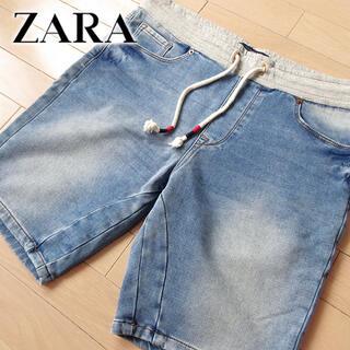 ZARA - 超美品 (EUR)42 ZARA MAN ザラ メンズ ショートデニムパンツ
