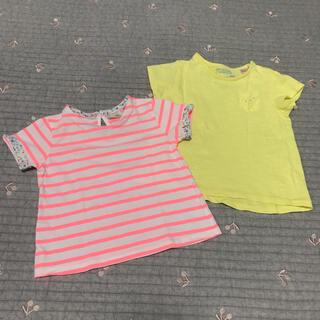 ザラキッズ(ZARA KIDS)のZARATシャツ トップス ザラ ベイビー 女の子 Tシャツ トップス74 80(Tシャツ)