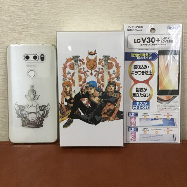 LG Electronics(エルジーエレクトロニクス)のジョジョスマホ L-02K スマホ/家電/カメラのスマートフォン/携帯電話(スマートフォン本体)の商品写真