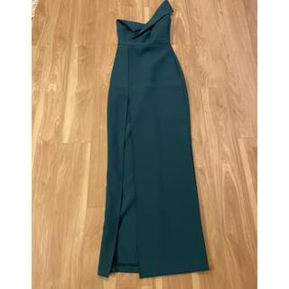BCBGMAXAZRIA - ロングドレス ワンショルダーワンピース