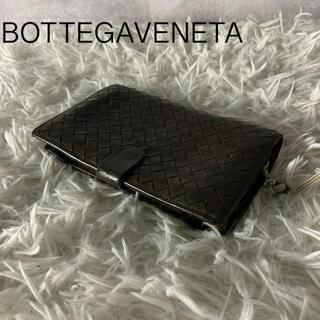 ボッテガヴェネタ(Bottega Veneta)のボッテガ ヴェネタ 折りたたみ財布 イントレチャート ダークブラウン(折り財布)
