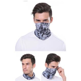 男女兼用 UVマスク フェイスカバー 冷感 迷彩 紫外線対策 吸汗(ネックウォーマー)