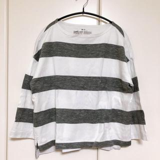 ムジルシリョウヒン(MUJI (無印良品))の無印良品 太番手 ボートネック Tシャツ(Tシャツ(長袖/七分))