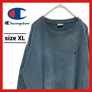 チャンピオン(Champion)の90s 古着 チャンピオン ロンT オーバーサイズ 刺繍ロゴ ワンポイント XL(Tシャツ/カットソー(七分/長袖))
