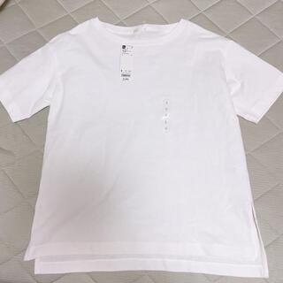 GU - ヘビーウェイトボックスチュニックT Tシャツ 白 ホワイト GU S