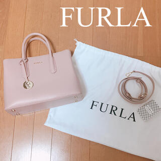Furla - 【美品】FURLA♡フルラ♡2way♡ハンドバッグ♡ピンクベージュ