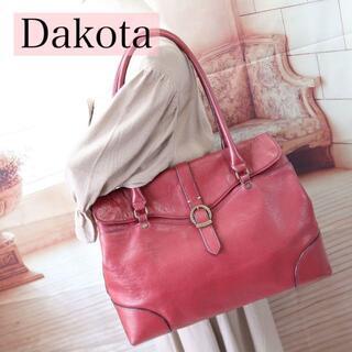 ダコタ(Dakota)のB398 ダコタDakota オールレザートートバッグ肩掛け A4〇 赤ボルドー(トートバッグ)