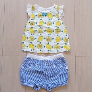 ニシマツヤ(西松屋)の80cm 女の子 夏コーデ ノースリーブ・ショートパンツ(Tシャツ)
