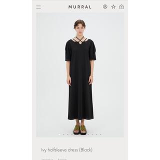 mame - MURRAL ワンピース ブラック