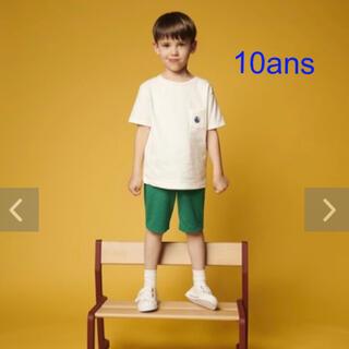 プチバトー 新品タグ付き 半袖 Tシャツ ホワイト 10ans/140cm