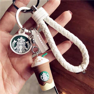 Starbucks Coffee - 【スターバックス海外限定】日本未発売 キーホルダー フラペチーノ 白