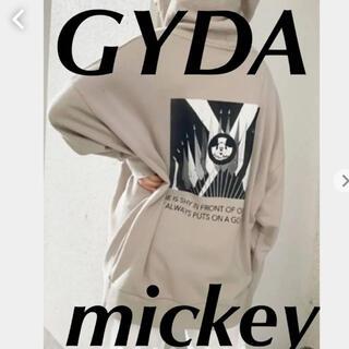 ジェイダ(GYDA)のGYDA♡ミッキー♡パーカー♡ジップアップ♡人気カラーベージュ♡新品未使用タグ付(パーカー)