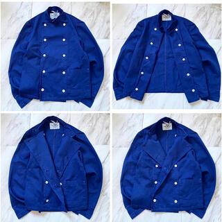 マルタンマルジェラ(Maison Martin Margiela)の後染め オーバーダイ vintage スウェーデン軍 コックジャケット シャツ(ミリタリージャケット)