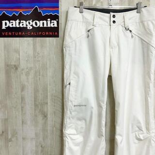 パタゴニア(patagonia)のパタゴニア スノー スキーパンツ スポーツウェア ワンポイントロゴ ホワイト(その他)
