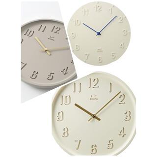 イデアインターナショナル(I.D.E.A international)の新品未使用 ブルーノ 時計 掛け時計 3つ 可愛い時計(掛時計/柱時計)