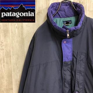 パタゴニア(patagonia)のパタゴニア 中綿 ナイロンジャケット フルジップ グリーン パープル(ナイロンジャケット)