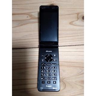パナソニック(Panasonic)のP-01J  docomo ガラホ ブラック SIMロック解除済(携帯電話本体)