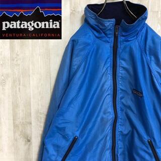 パタゴニア(patagonia)のパタゴニア 80s USA製 シェルドシンチラ ナイロンジャケット 三角タグ 青(ナイロンジャケット)