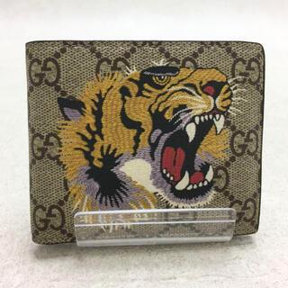 グッチ(Gucci)の✨美品✨GUCCI タイガー 虎 アニマリエ GGスプリーム 折り財布(折り財布)