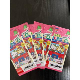 サンリオ(サンリオ)の5パック 未開封amiiboカード どうぶつの森 サンリオコラボ 復刻版(カード)