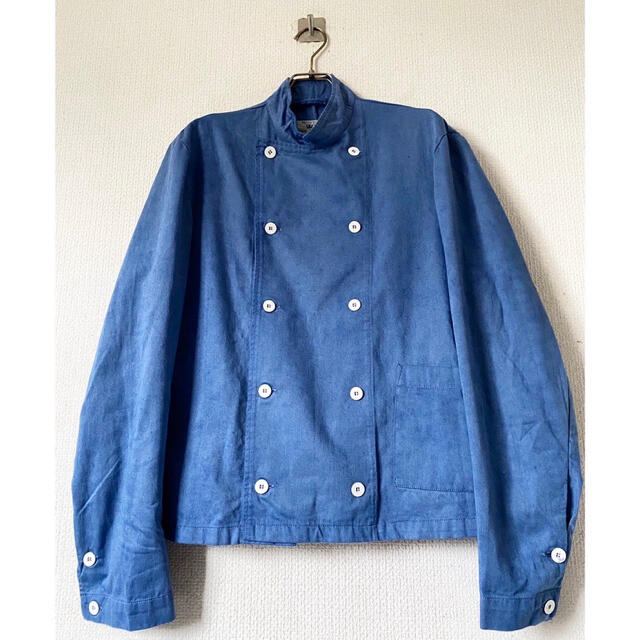 Yohji Yamamoto(ヨウジヤマモト)のオーバーダイ 後染め vintage スウェーデン軍 コックジャケット シャツ メンズのジャケット/アウター(ミリタリージャケット)の商品写真