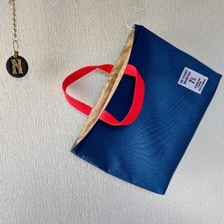 再販☆セルリアンブルー×赤 レッスンバッグ(バッグ/レッスンバッグ)