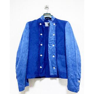 マルタンマルジェラ(Maison Martin Margiela)の1点物 バイカラー オーバーダイ 青 スウェーデン軍 コックジャケット シャツ(ミリタリージャケット)