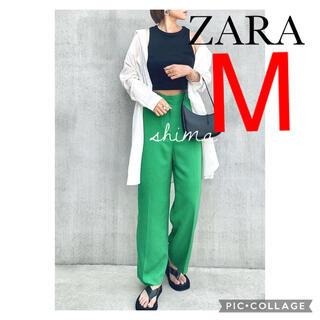 ザラ(ZARA)のZARA マスキュリンワイドレッグパンツ M ハイラズパンツ(カジュアルパンツ)