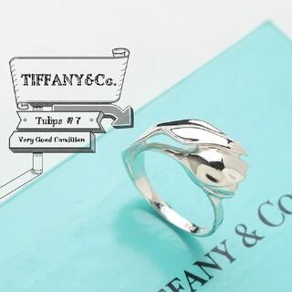 Tiffany & Co. - 新品仕上げ TIFFANY ティファニー チューリップ リング 指輪 7号