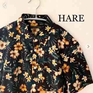 ハレ(HARE)のHARE ハレ 花柄シャツ 半袖 アロハ Mサイズ 日本製 (シャツ)