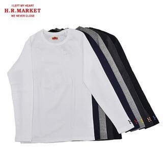 HOLLYWOOD RANCH MARKET - ★人気 ハリウッドランチマーケット ストレッチフライス長袖Tシャツ 3 白