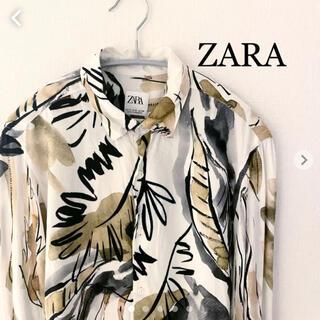 ZARA - ZARA ザラ 長袖シャツ 柄シャツ Sサイズ