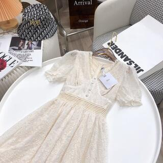 Christian Dior - Christian Dior クリスチャンディオール ひざ長ワンピース
