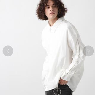 ハレ(HARE)のハレ hare ZIPデザインBIGシャツ 白 黒 2枚セット(シャツ)