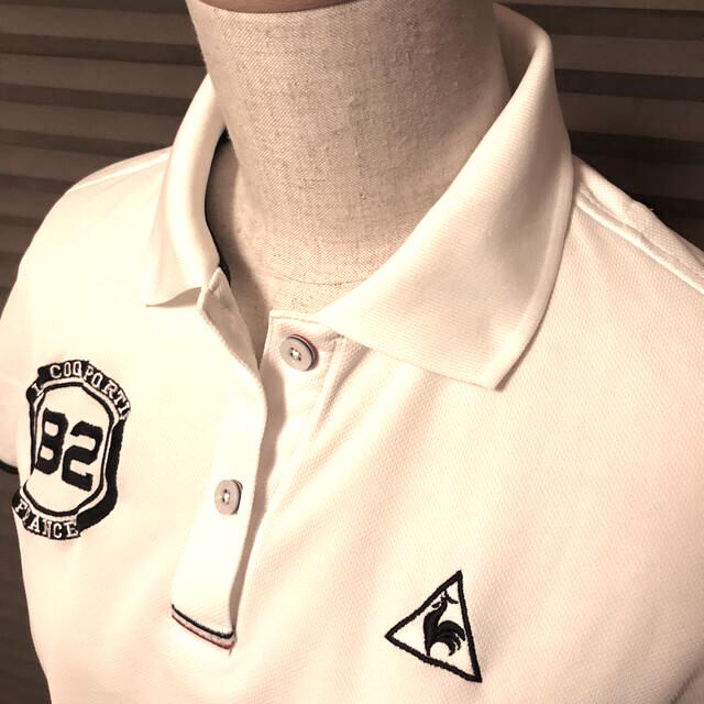le coq sportif(ルコックスポルティフ)のルコック ゴルフ レディース白ポロシャツ Mサイズ スポーツ/アウトドアのゴルフ(その他)の商品写真