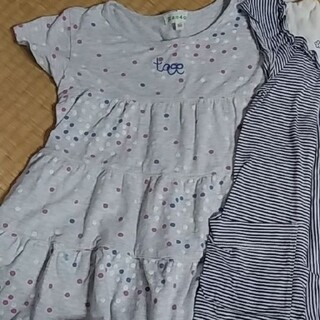 ミッシェルクラン(MICHEL KLEIN)の女の子 半袖 チュニック ミッシェルクラウン 3can4on   100(Tシャツ/カットソー)