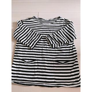 マリメッコ(marimekko)のmarimekkoのボーダーロングTシャツ(Tシャツ/カットソー(七分/長袖))