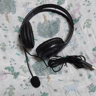 エレコム(ELECOM)のELECOM ヘッドセット USB HS-HP28UBK オーバーヘッド(ヘッドフォン/イヤフォン)