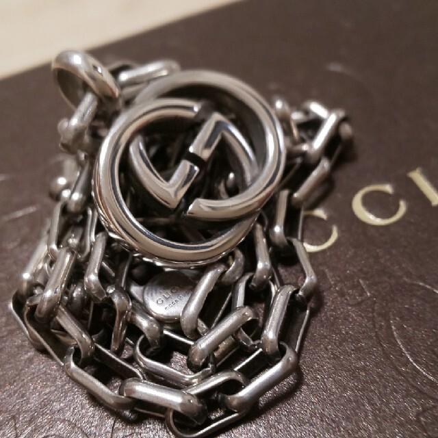 Gucci(グッチ)の美品 GUCCI インターロッキング WGロゴ ネックレス メンズのアクセサリー(ネックレス)の商品写真