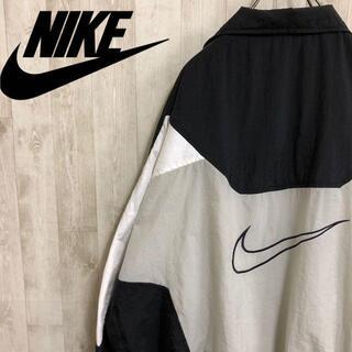 NIKE - ナイキ 白タグ 90s フルジップ ナイロンジャケット ビッグサイズ 刺繍ロゴ