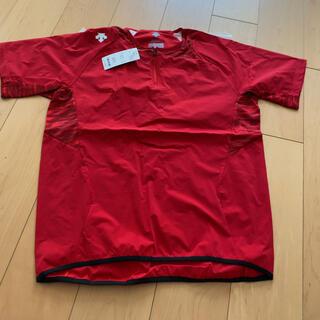 デサント(DESCENTE)のデサント(DESCENTE) ハイブリッドシャツ DBMLJC31 RED(ウェア)