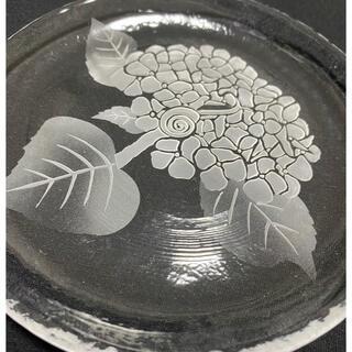スガハラ(Sghr)のsugahara すきや15cm丸皿【加工品】紫陽花(食器)