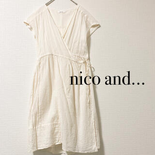 niko and... - nico and... カシュクールワンピース ロングカーディガン 半袖 生成