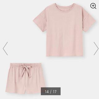 GU - ラウンジセット (半袖&ショートパンツ) ショートパンツ ハーフパンツ