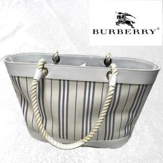 バーバリー(BURBERRY)のBURBERRY トートバッグ カゴバッグ(トートバッグ)