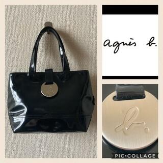 agnes b. - アニエス☆ロゴ エナメル バッグ