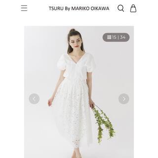 ツルバイマリコオイカワ(TSURU by Mariko Oikawa)のthuru by mariko oikawa ホワイトブラウス(シャツ/ブラウス(半袖/袖なし))