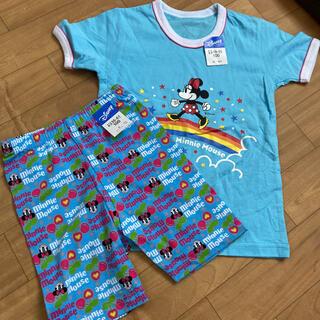 Disney - ディズニーミニー 100サイズ 半袖シャツ&ハーフレギンス 上下セット!