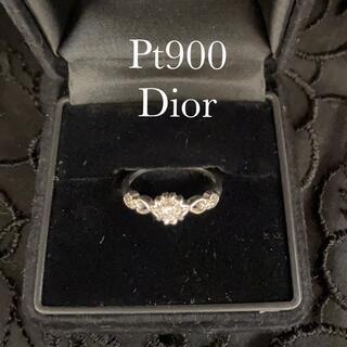 ディオール(Dior)のDior プラチナ ダイヤモンドリング クリスチャンディオール(リング(指輪))