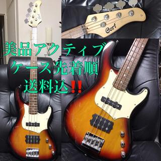 美品cortコルト送料込アクティブ大型ハムバッカーJAZZBASSベースギター(エレキベース)